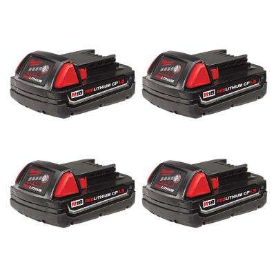 M18 18-Volt Lithium-Ion Compact Battery Pack 1.5Ah (4-Pack)