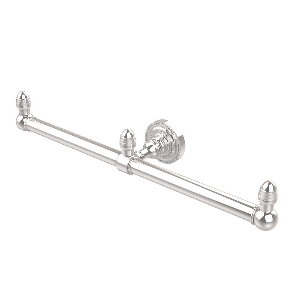 Dottingham Collection 2-Arm Guest Towel Holder in Polished Chrome