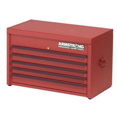 33 in. 5-Drawer Industrial Series Top Storage Chest , Red