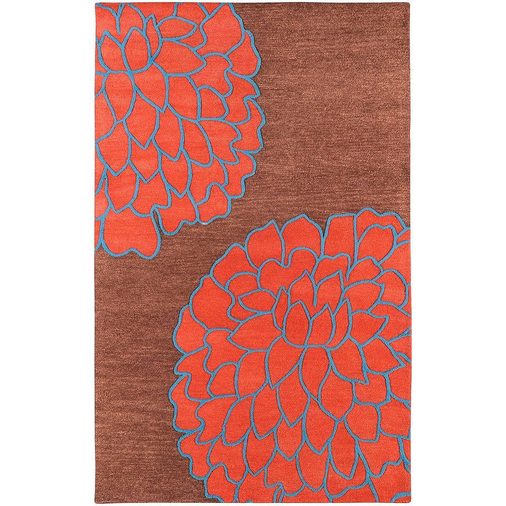Crofton Brown 5 ft. x 8 ft. Area Rug