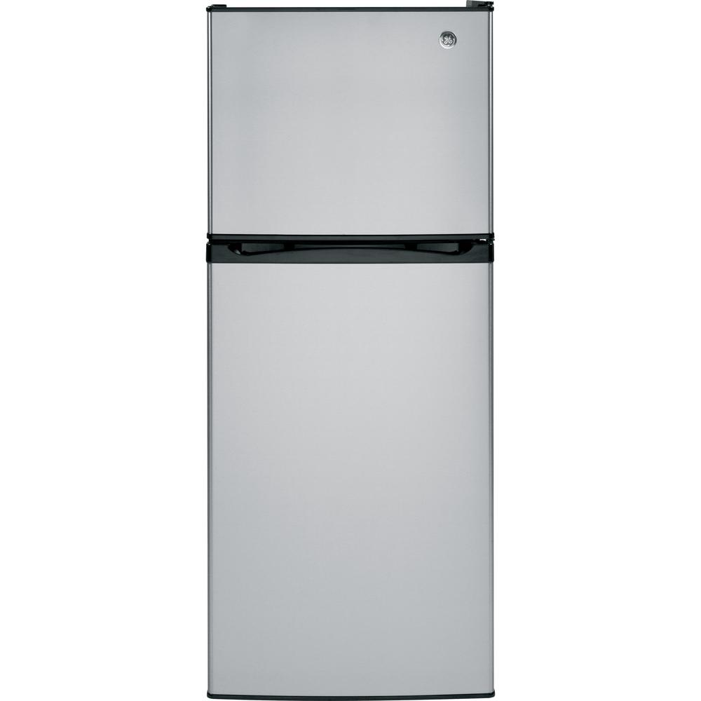 GE 11.6 cu. ft. Top Freezer Refrigerator in Stainless Steel, ENERGY STAR