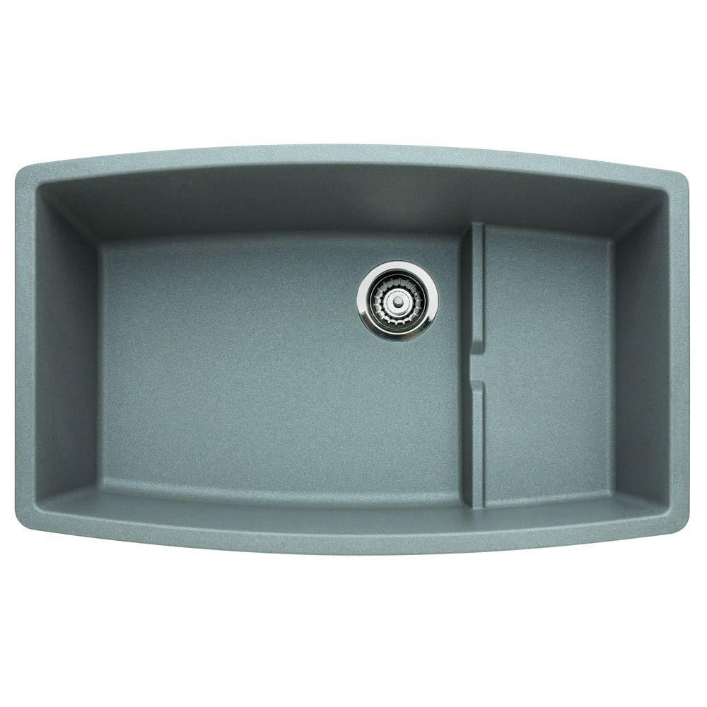 Blanco PERFORMA Undermount Granite Composite 32 in. 0-Hole Cascade ...