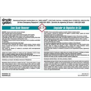 Simple Green Lime Scale Remover Secondary Label 10 Pack