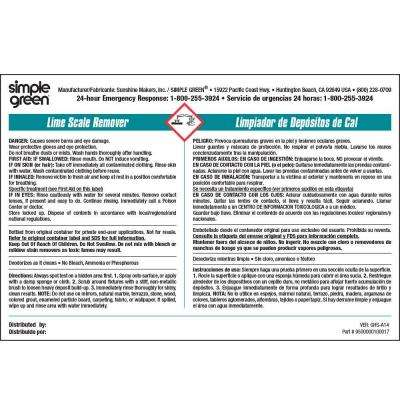 Lime Scale Remover Secondary Label (10-Pack)