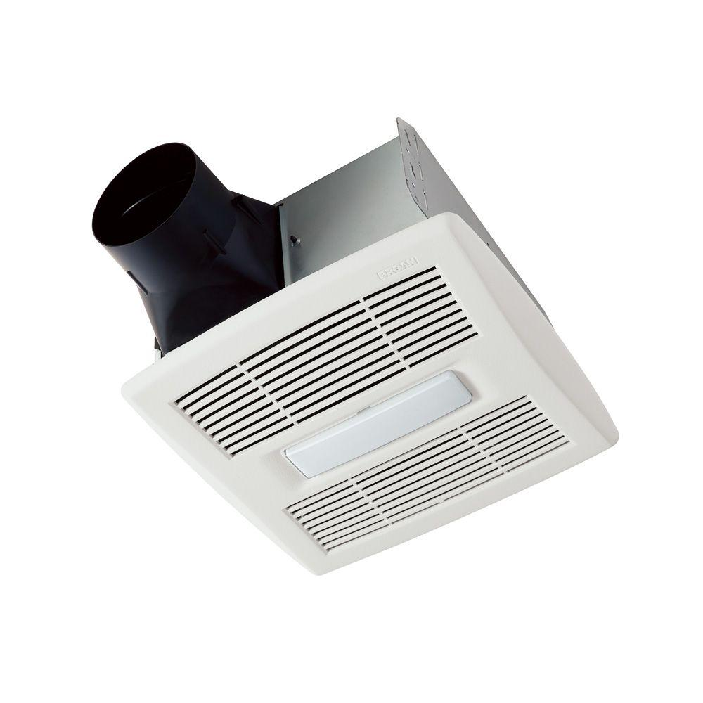 Broan Nutone Invent Series 80 Cfm Ceiling Installation Bathroom Exhaust Fan With Light Energy Star Ae80l The Home Depot