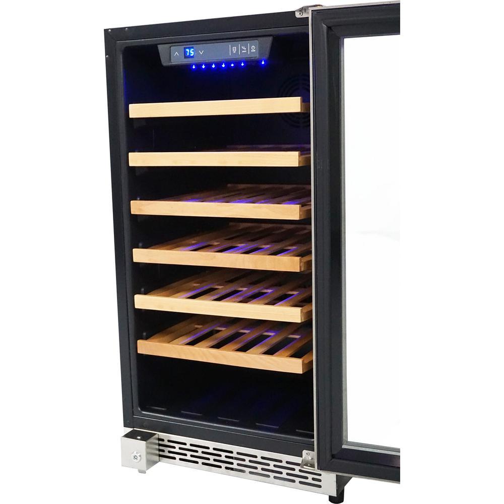 18 in. 40-Bottle Single Zone Built-in Wine Cooler
