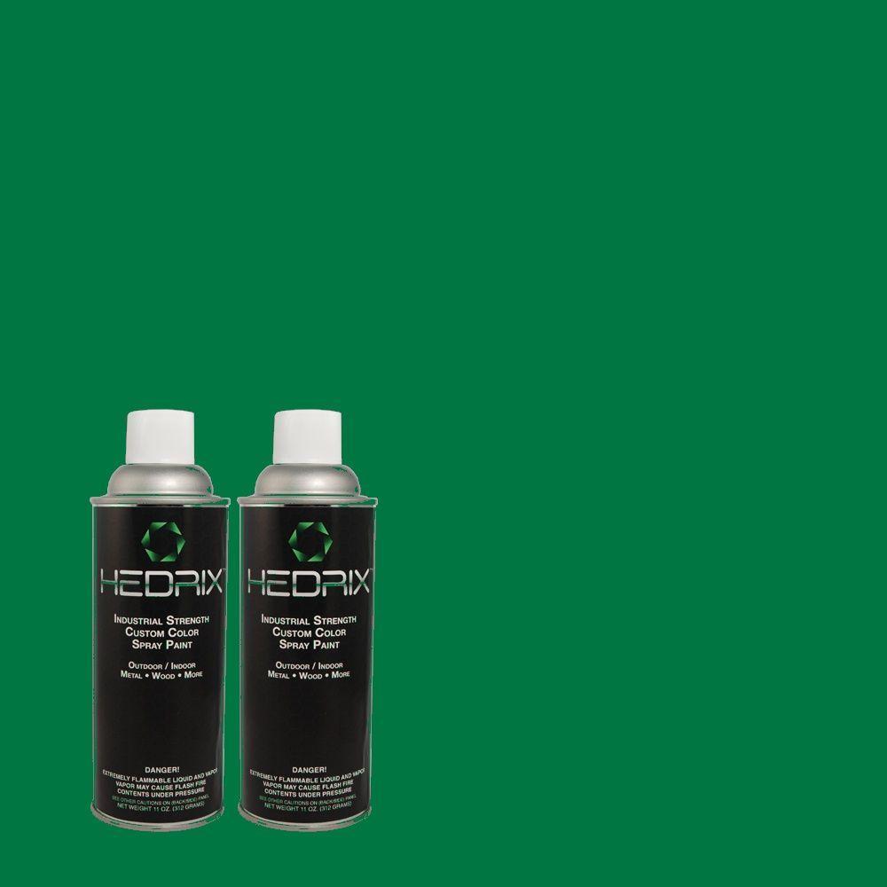 Hedrix 11 oz. Match of 470B-7 Climbing Ivy Semi-Gloss Custom Spray Paint (2-Pack)