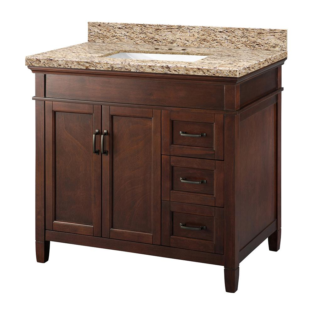 Foremost Ashburn 37 In X 22 In Vanity In White With