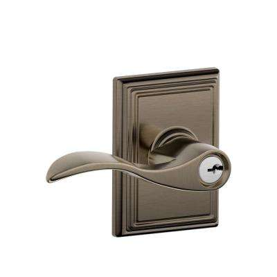 Accent Antique Pewter Entry Door Lever with Addison Trim - Pewter - Door Levers - Door Knobs & Hardware - The Home Depot