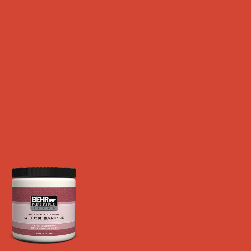 BEHR Premium Plus Ultra 8 oz. #S-G-190 Red Hot Interior/Exterior Paint Sample