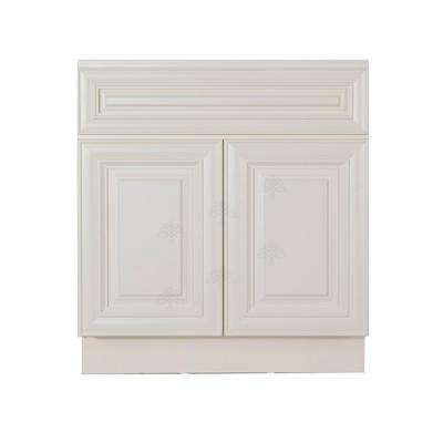 Princeton Assembled 36 in. W x 21 in. D x 33 in. H Vanity with Two Doors Off-White Finish