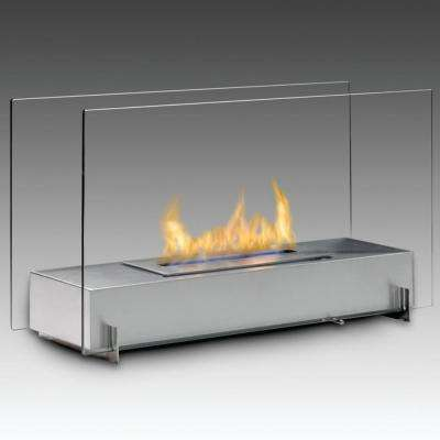 Vision I 28 in. Ethanol Free Standing Fireplace in Stainless Steel