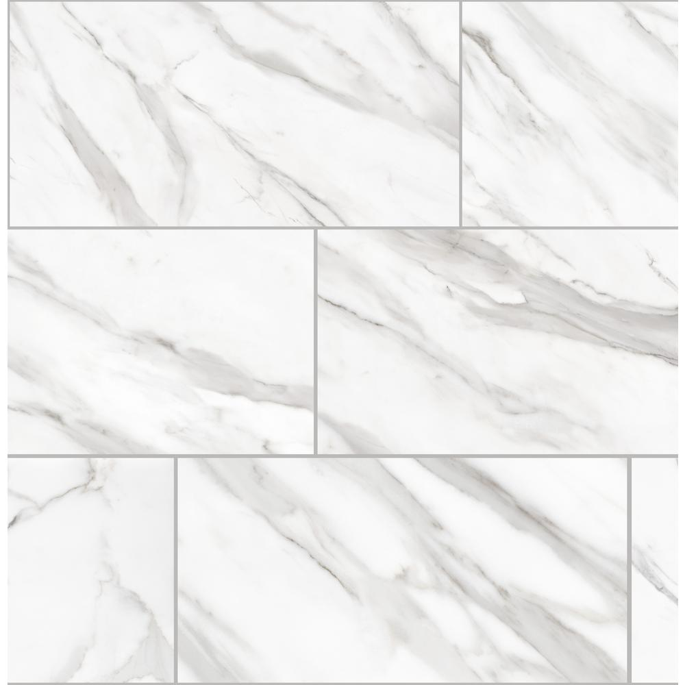 Florida Tile Home Collection Avante Bianco Marble 12 in. x 24 in. Porcelain Floor and Wall Tile (425.6 sq. ft./pallet)
