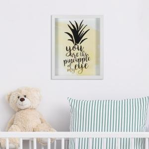 Linden Ave 8 inch x 10 inch You Are The Pineapple of My Eye 1-Piece Framed Artwork with Foil by Linden Ave