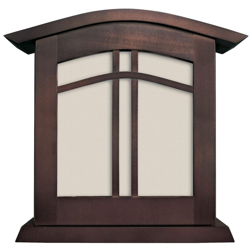 Heath Zenith Wired Decorative Door Chime - Chocolate Finish Wood Frame