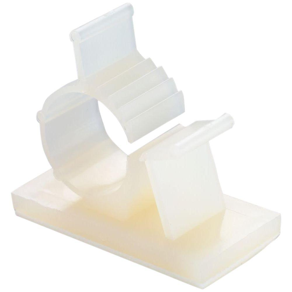 Gardner Bender 1/2 in. Plastic Kwik Clip, White (4-Pack)