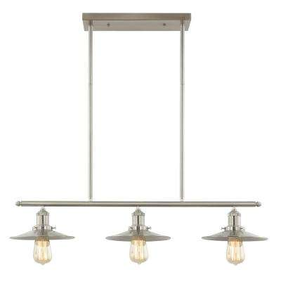 Avenue 3-Light Kitchen Island Pendant with Iron Shades
