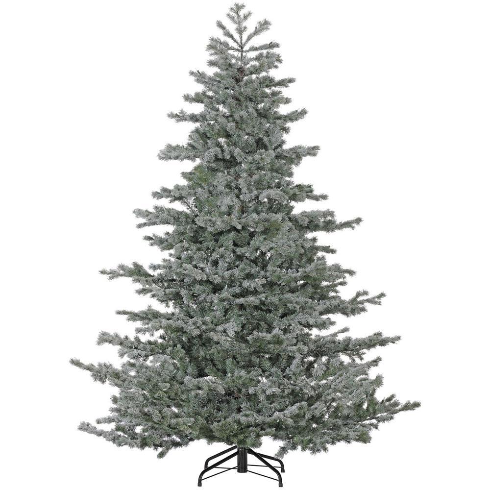 Slim 7 5 Ft Christmas Tree: Fraser Hill Farm 7.5 Ft. Unlit Flocked Hillside Slim Pine
