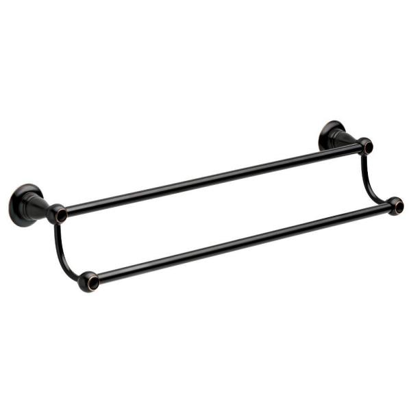Delta Porter 24 In Double Towel Bar In Oil Rubbed Bronze 78425 Orb The Home Depot