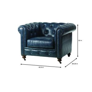 Awesome Home Decorators Collection Gordon Blue Leather Arm Chair Unemploymentrelief Wooden Chair Designs For Living Room Unemploymentrelieforg