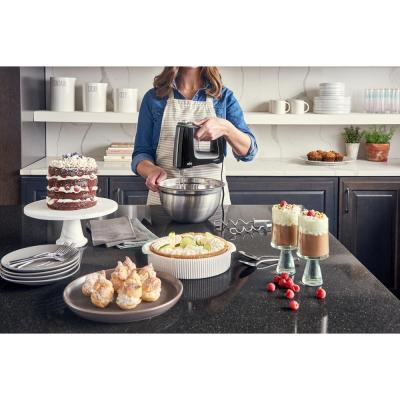 Braun-MultiMix 9-Speed Black Hand Mixer with Multi-Whisk and Dough Hook Attachments