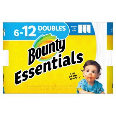Essentials Select-A-Size White Paper Towels (6 Double Rolls)