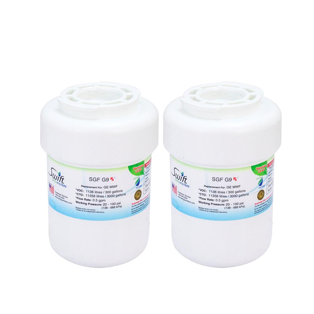 GE MWF Fits Amana Replacement Refrigerator Water Filter (2-Pack)