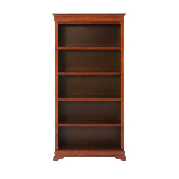 73 in. Sequoia Wood 5-shelf Modular Bookcase with Adjustable Shelves