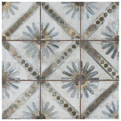 Harmonia Kings Marrakech Blue 13 in. x 13 in. Ceramic Floor and Wall Tile (12.19 sq. ft./Case)