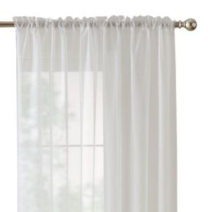 Sheer Voile Window Panel in White - 60 in. W x 84 in. L