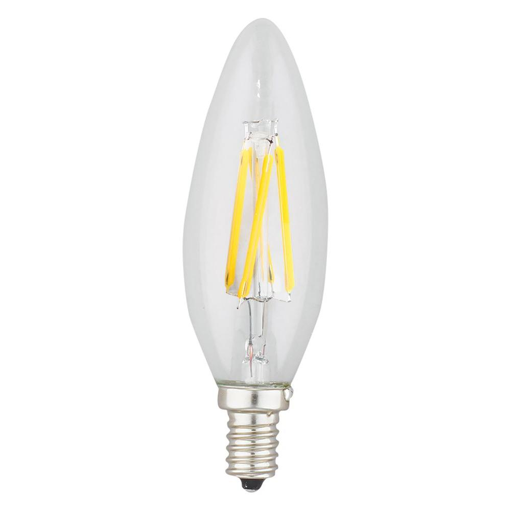 40W Equivalent 2,700K Candle Torpedo Dimmable LED Light Bulb