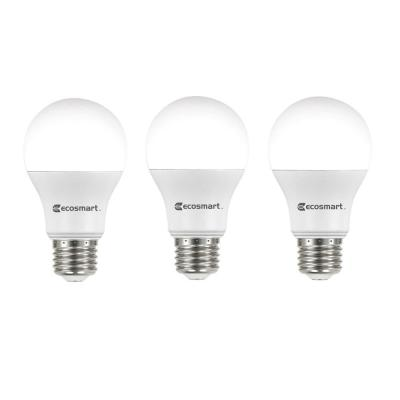 60-Watt Equivalent A19 Non-Dimmable LED Light Bulb Daylight (3-Pack)