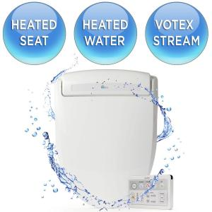 bioBidet Supreme Electric Bidet Seat for Round Toilets in White by bioBidet