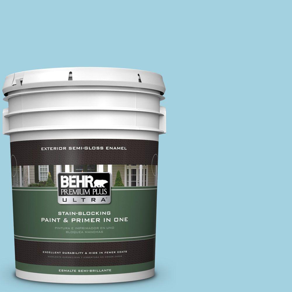 5-gal. #M480-3 Bengal Blue Semi-Gloss Enamel Exterior Paint