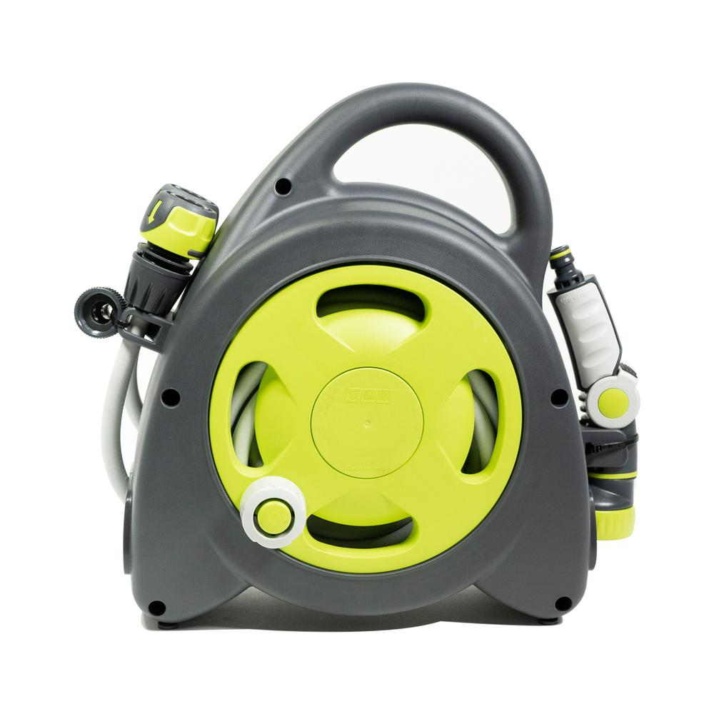 G.F. Garden Aquabag 1 in. x 54 ft. Lime Maxi Portable Hose and Reel
