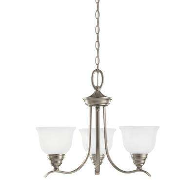 Wheaton 3-Light Brushed Nickel Chandelier