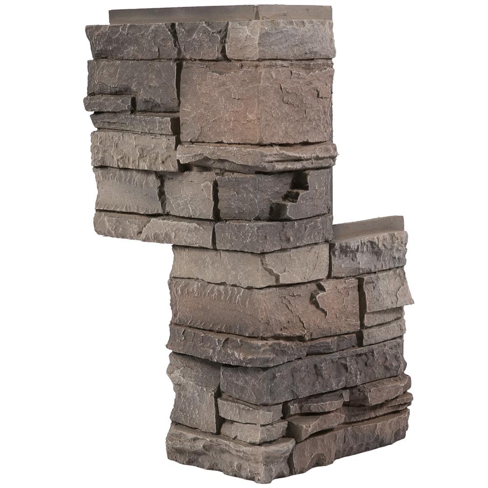 Genstone stacked stone kenai 12 in x 12 in faux stone for Stacked stone house