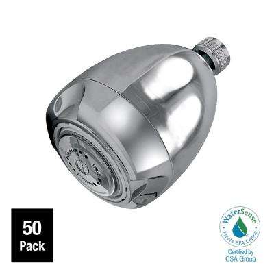 Earth Massage 3-Spray 2.6875 in. 1.25 GPM Fixed Showerhead Contractor in Chrome (Pack of 50)