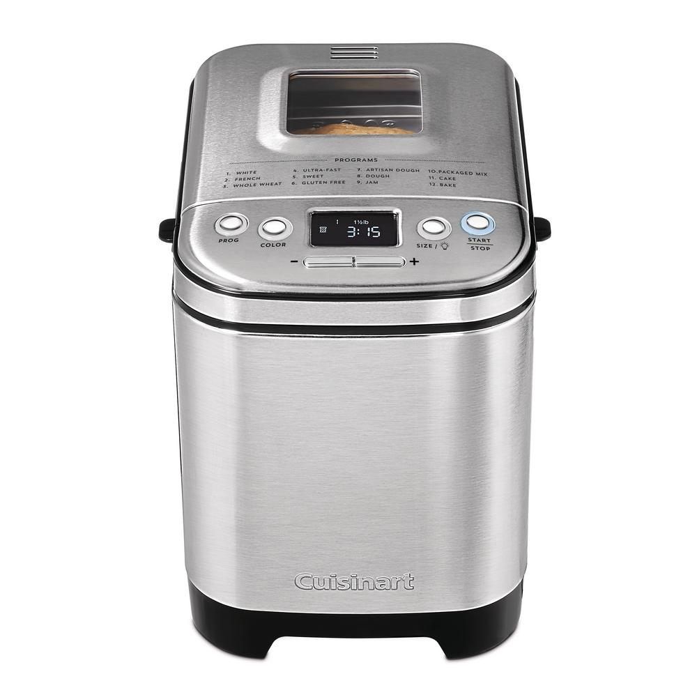 Cuisinart 2 lb. Stainless Steel with Gluten-Free Setting Bread Maker, Silver/Brushed Stainless