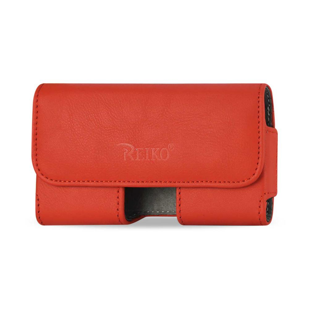 REIKO Medium Horizontal Leather Holster in Orange