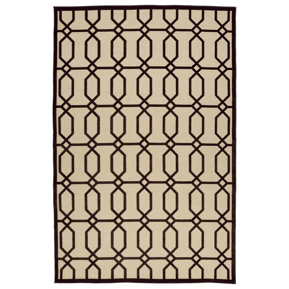 Five Seasons Brown 5 ft. x 7 ft. 6 in. Indoor/Outdoor