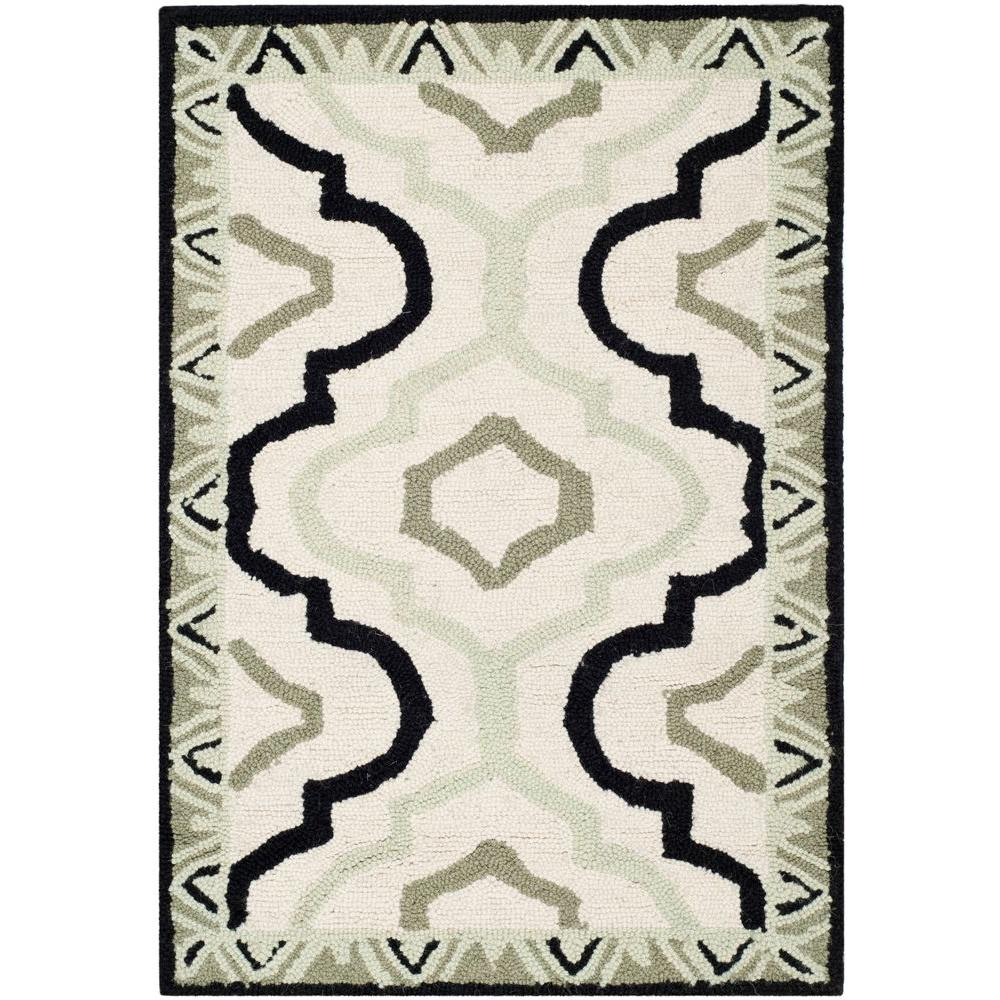 Chelsea Ivory/Black 2 ft. 6 in. x 4 ft. Area Rug