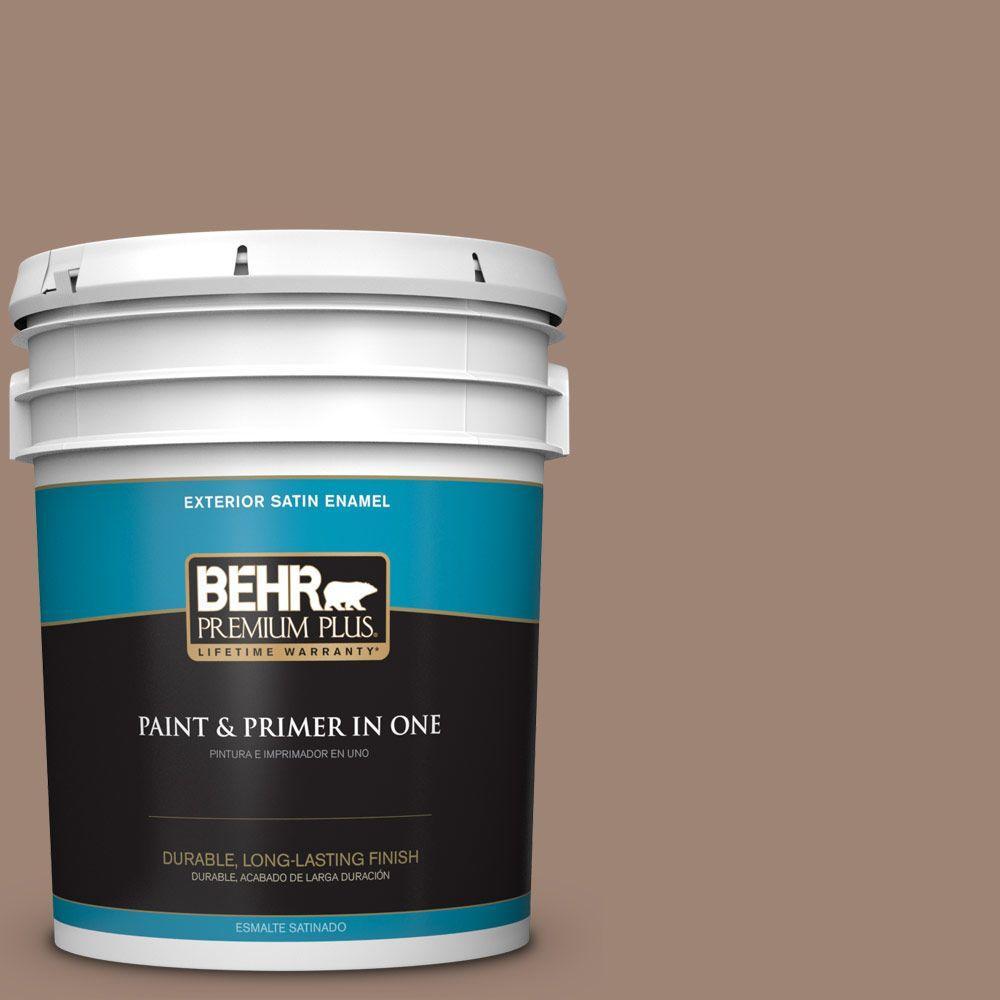 5-gal. #760B-5 Blanket Brown Satin Enamel Exterior Paint