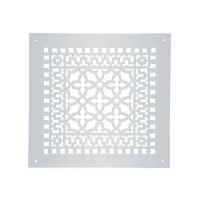 Scroll Series 12 in. x 12 in. Aluminum Grille, Gray with Mounting Holes