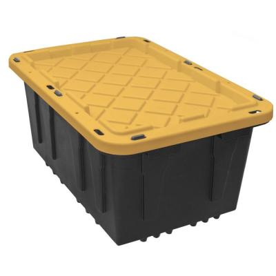 17 Gal. Tough Storage Bin in Black