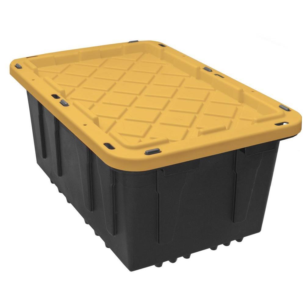 Home Depot Pickup Rental >> HDX 17 Gal. Storage Tote in Black-HDX17GONLINE(6) - The Home Depot