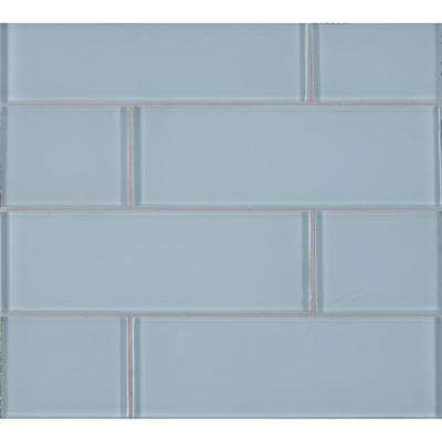 Ice 3 in. x 9 in. x 8mm Glass Wall Tile (3.8 sq. ft. / case)