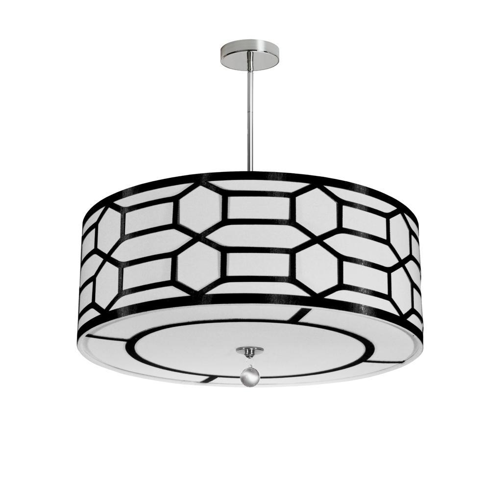 Filament Design 4-Light Black/White Pendant