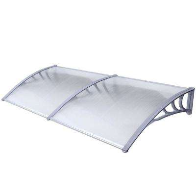 6.5 ft. Polycarbonate Window/Entry Awning in Grey
