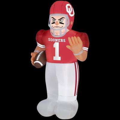 83.85 in. Inflatable Oklahoma University Football Player